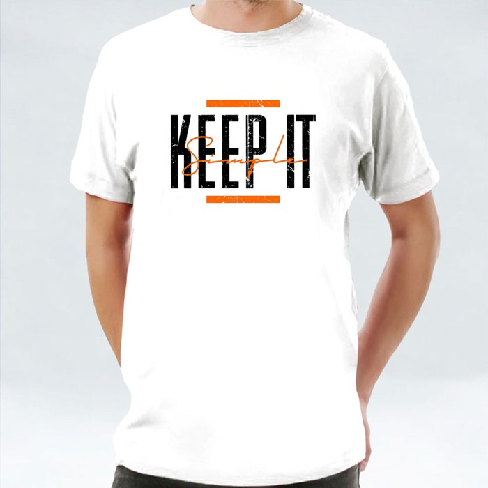 Keep It Simple Typography 短袖T恤