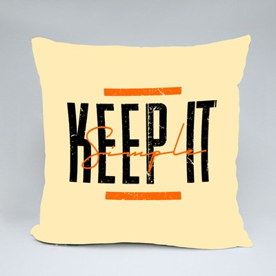 Keep It Simple Typography 抱枕