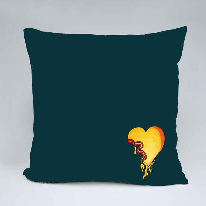 Injured Heart by Ernest (12 Y/O) Throw Pillows