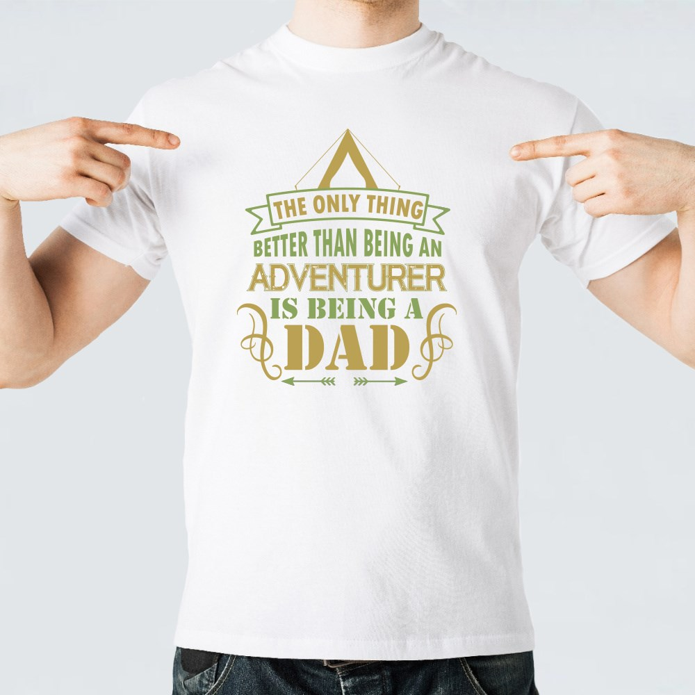 Is by Being a Dad T-Shirts