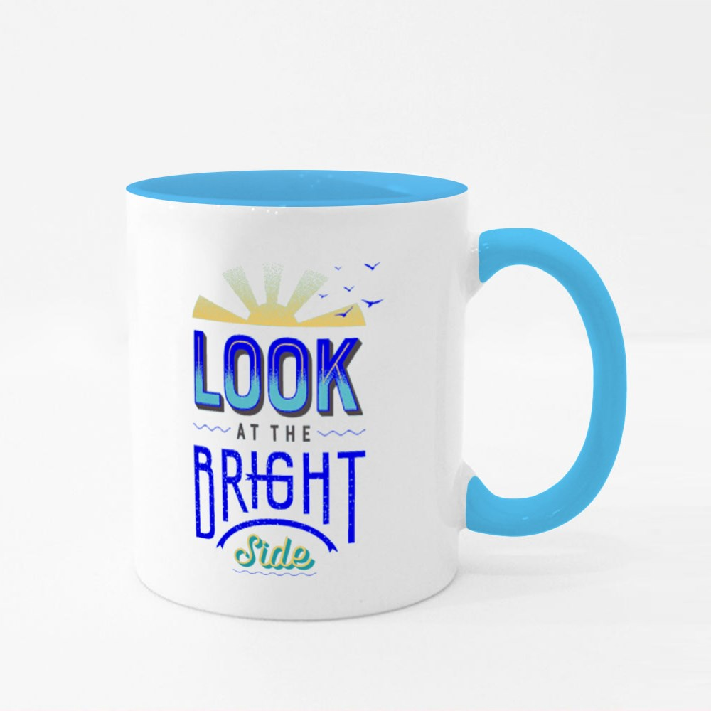 Look at the Bright Side Colour Mugs