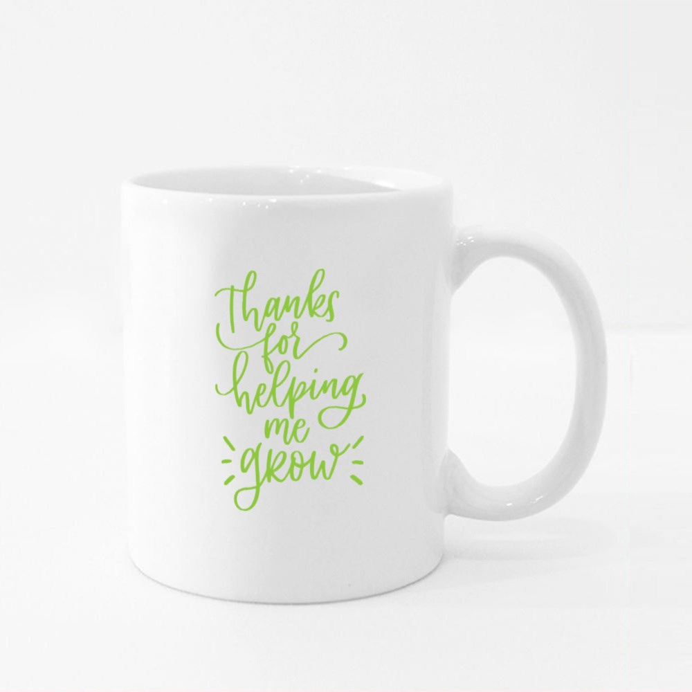 Thanks for Helping Me Grow Colour Mugs