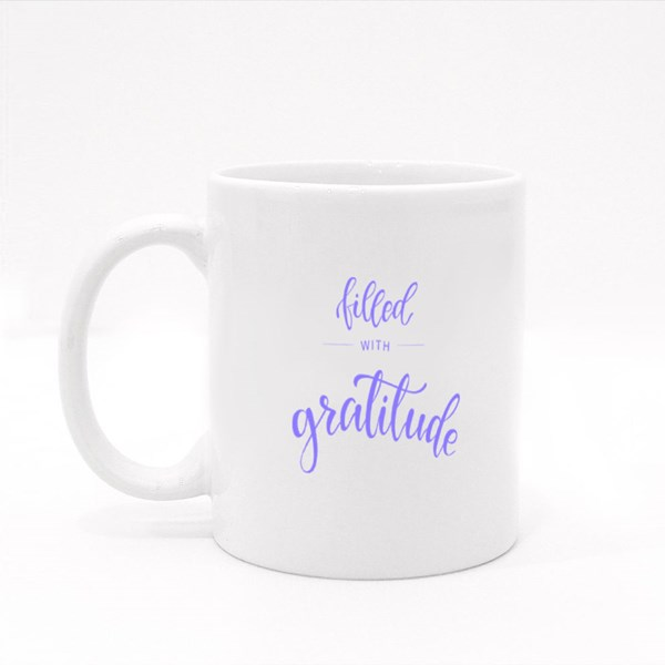 Filled With Gratitude 彩色杯
