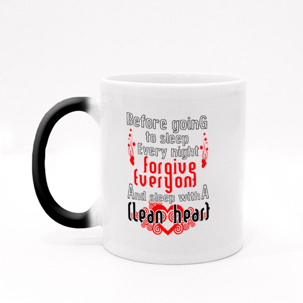 Sleep With a Clean Heart Magic Mugs