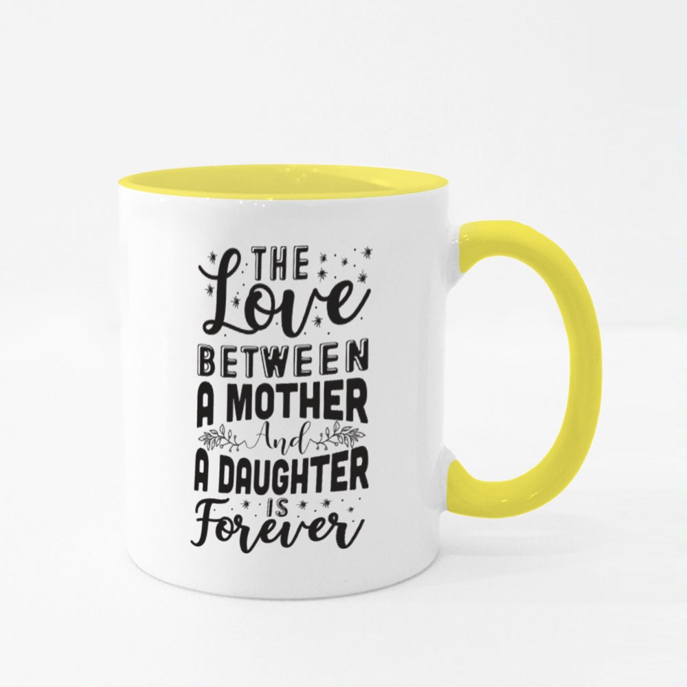 The Love Is Forever Colour Mugs