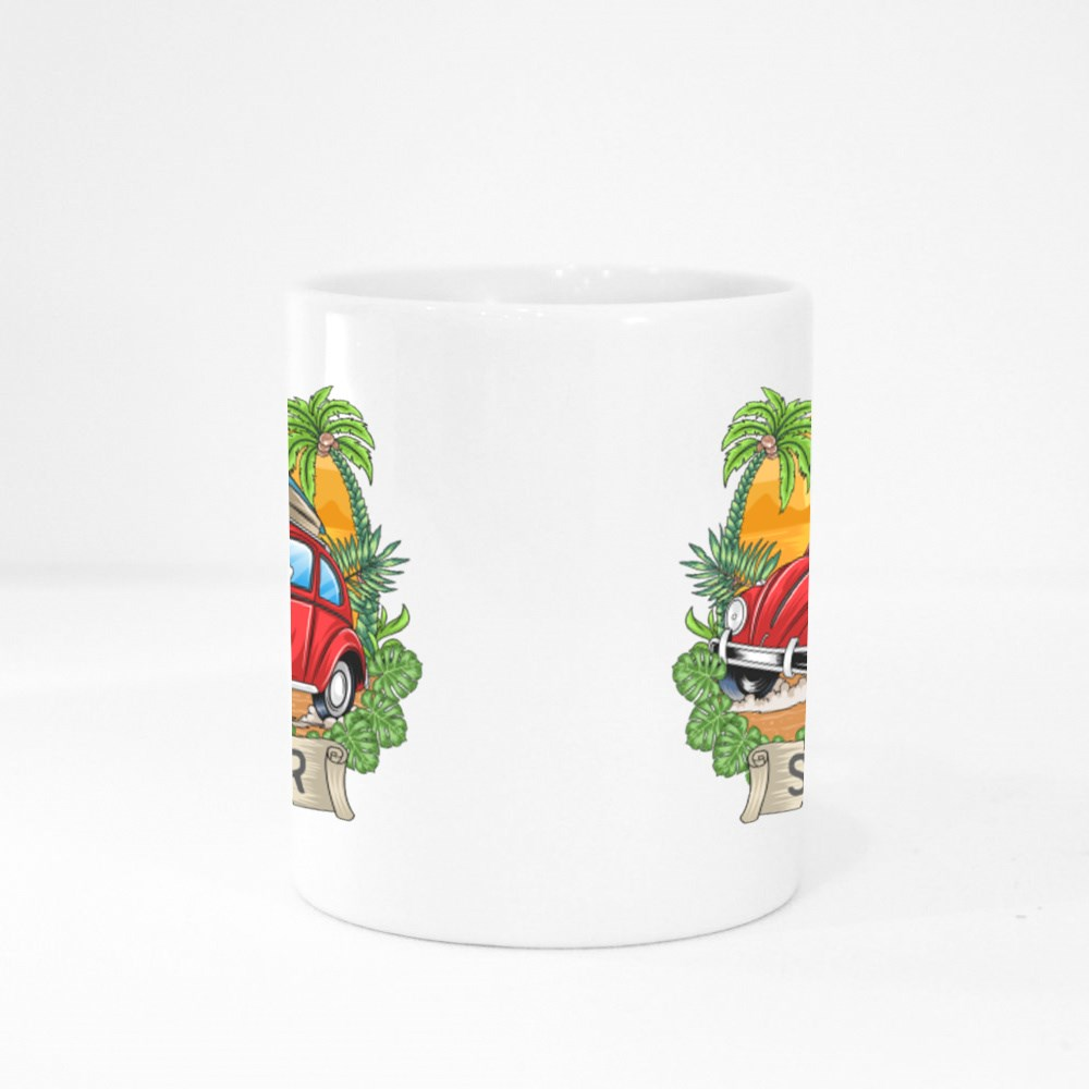 Summer Surfer and Car Colour Mugs