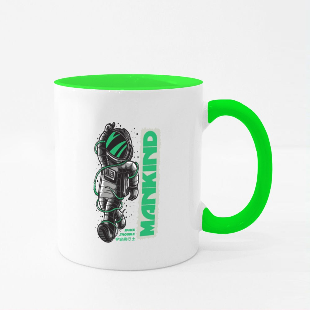 Mankind Space Trouble Colour Mugs
