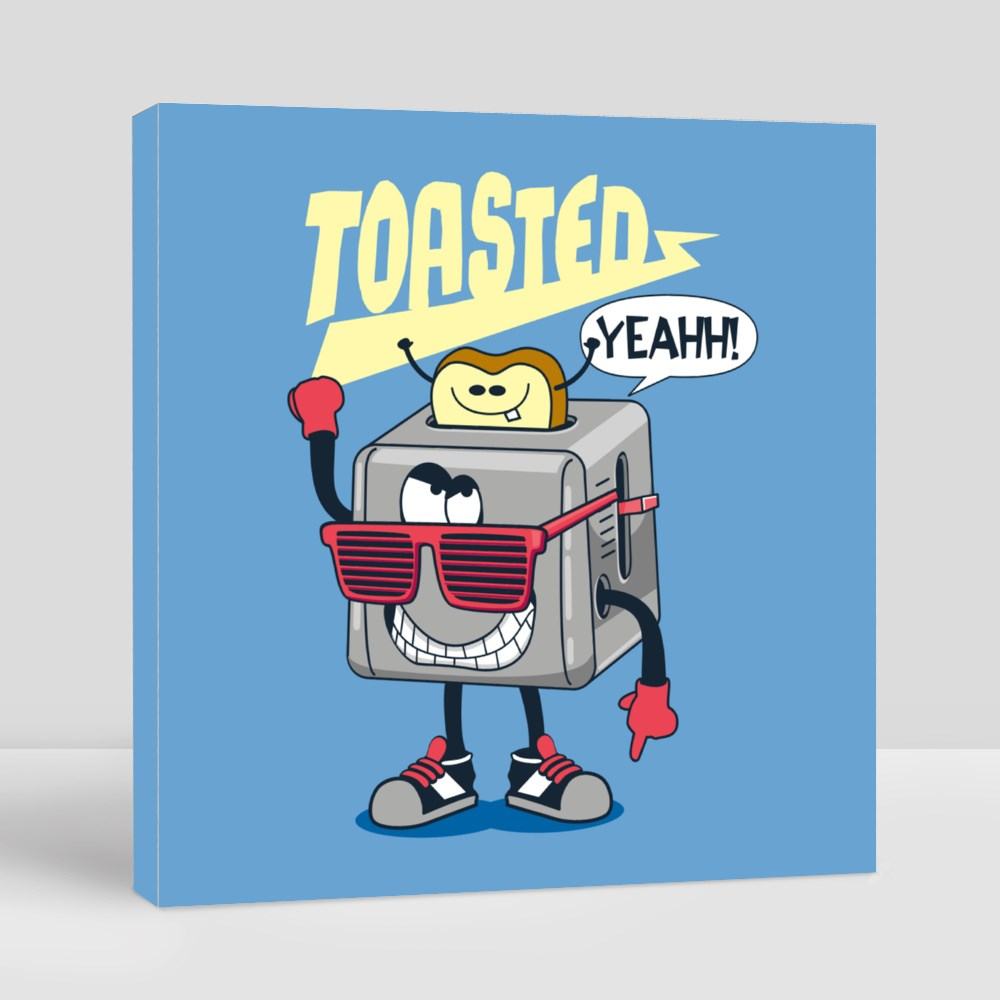 Cute Toasted and Bread Canvas (Square)