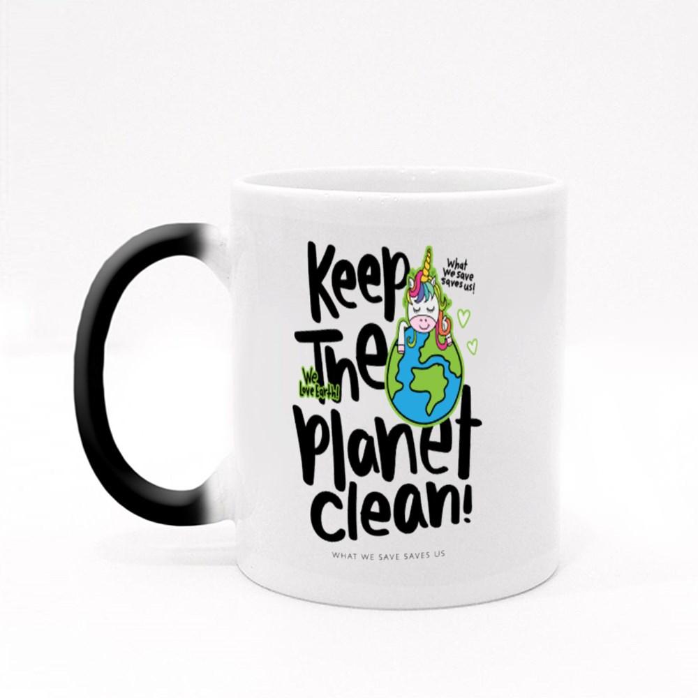 Keep the Planet Clean Magic Mugs