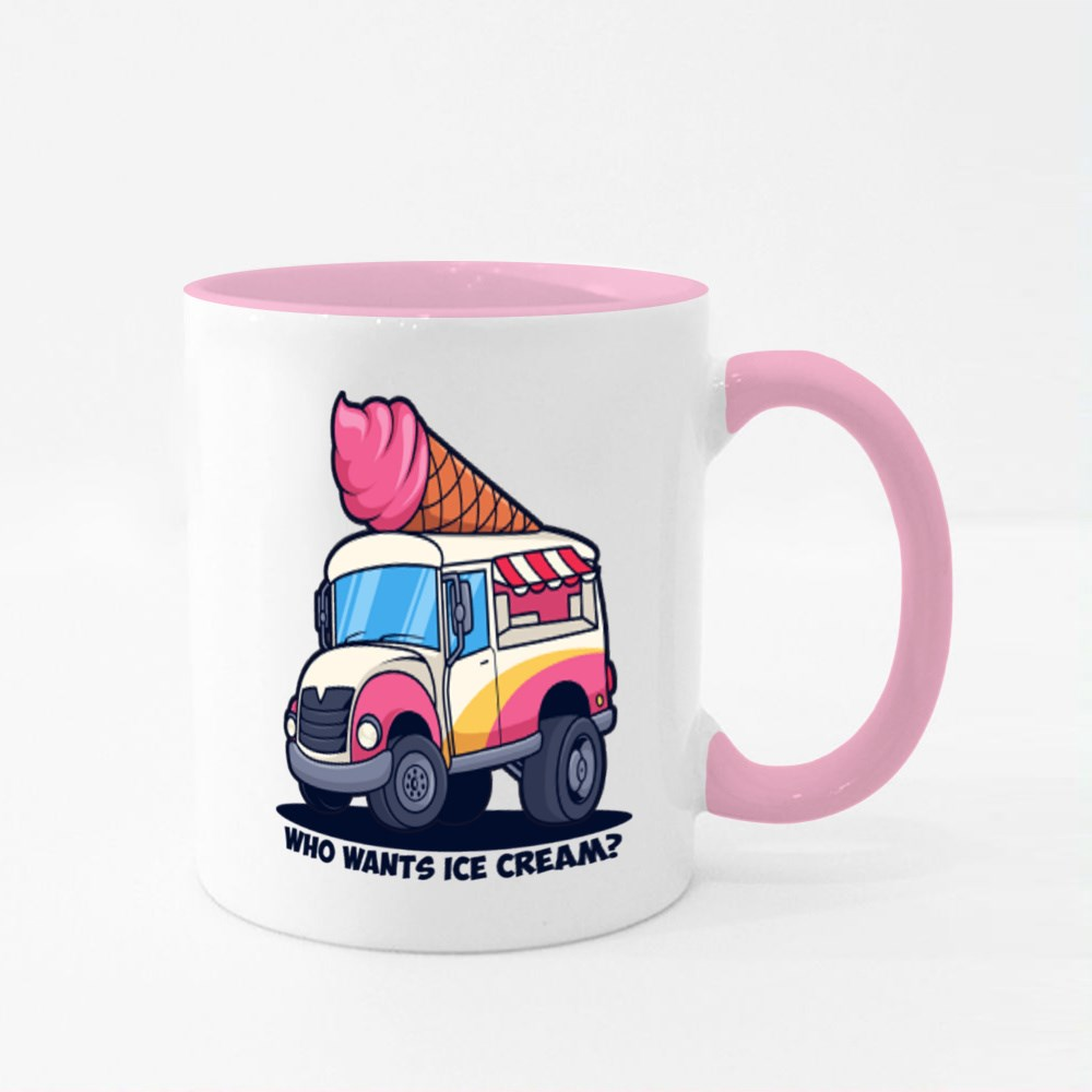 Ice Cream Truck Colour Mugs