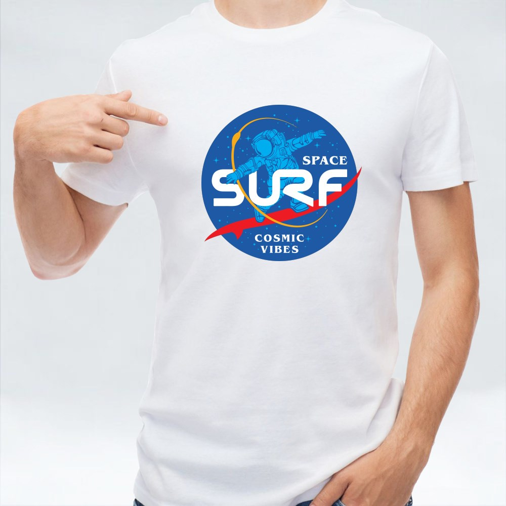 Space Surf Cosmic Vibes T-Shirts