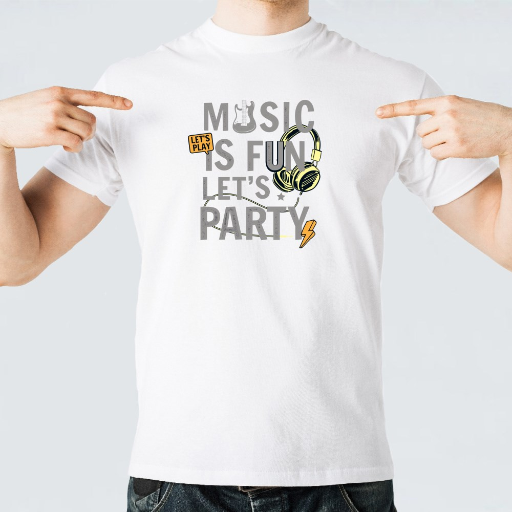 Music Is Fun Let's Party T-Shirts