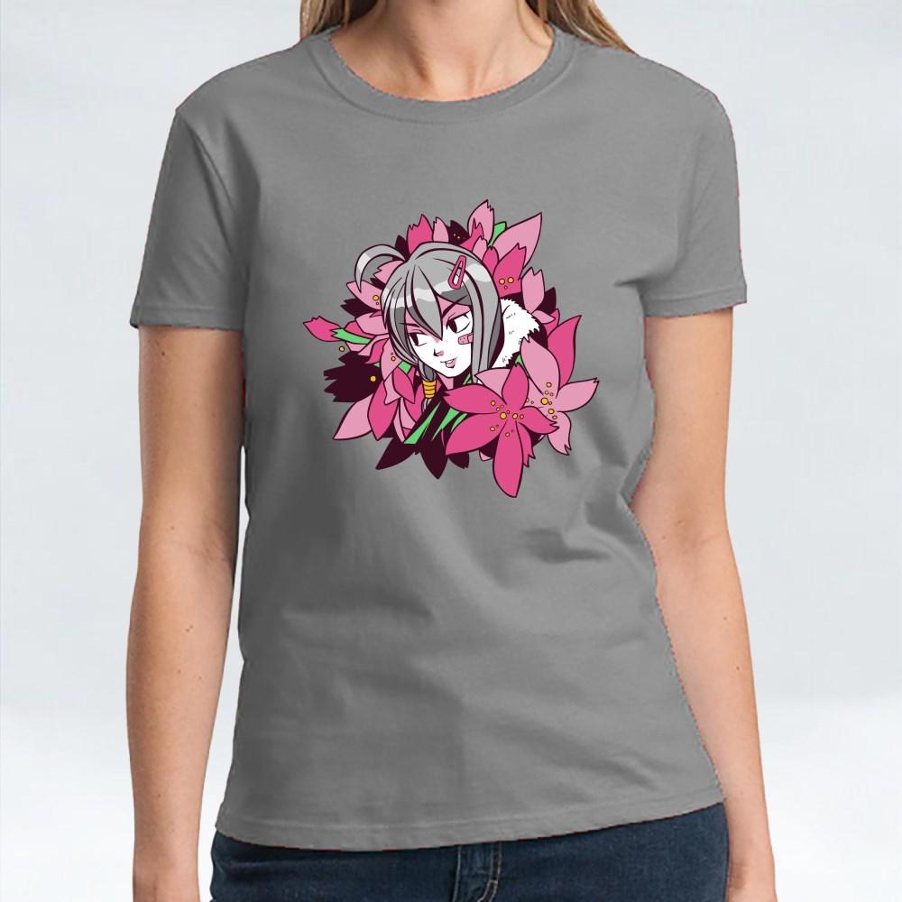 Anime Girl Flowers T-Shirts