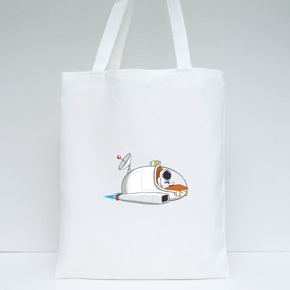 Travelling on Space Tote Bags