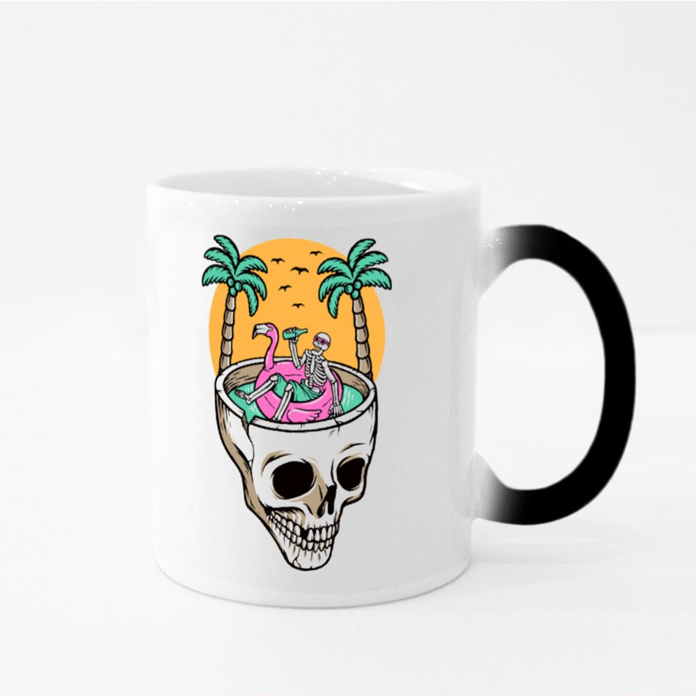 Chill Out on the Skull Beach Magic Mugs