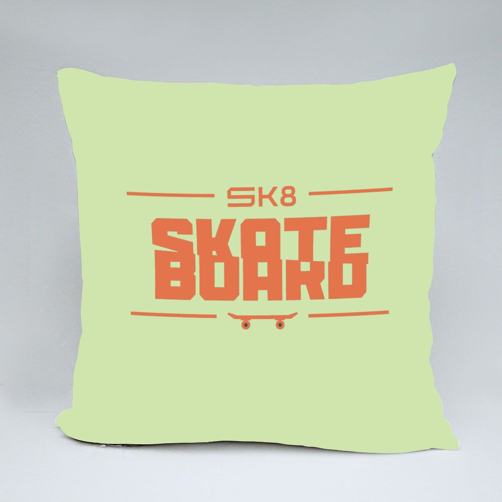 Sk8 With Sport Typography Bantal