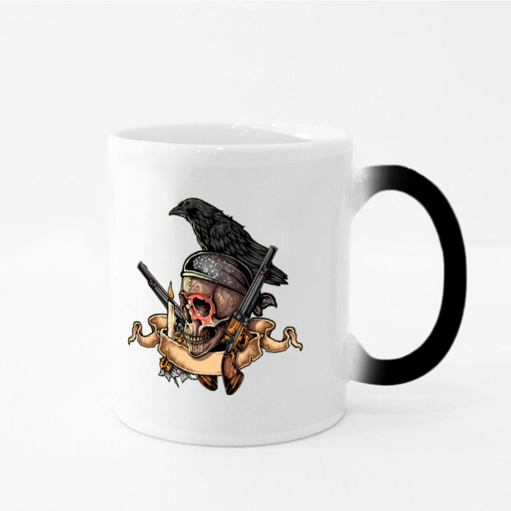 The Dead Skull With Candle Magic Mugs