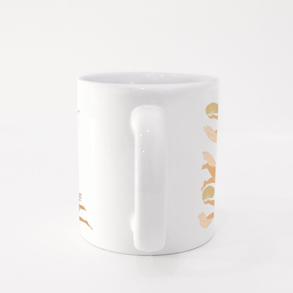 Cupids With Wings Colour Mugs