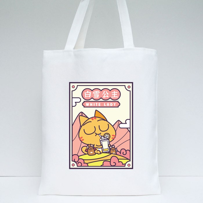 Miao Patch: White Lady V1 Tote Bags