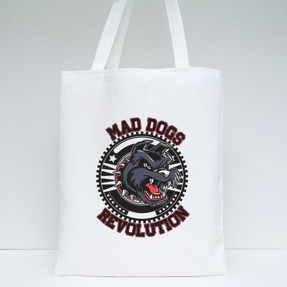 Mad Dog Revolution Tote Bags