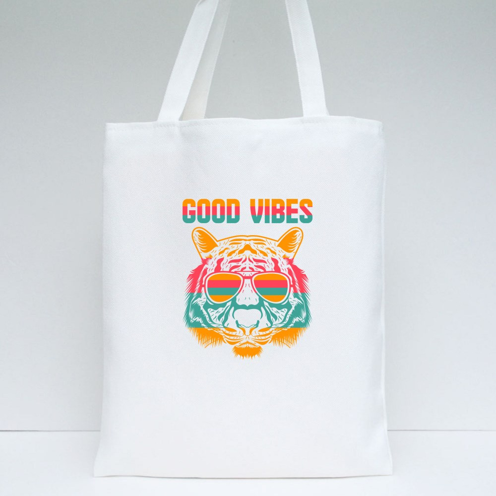 Good Vibes Tiger Tote Bags