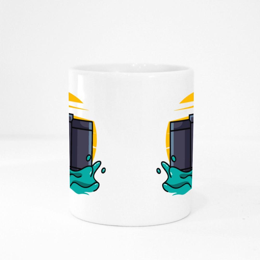 Dslr Camera on Water Colour Mugs