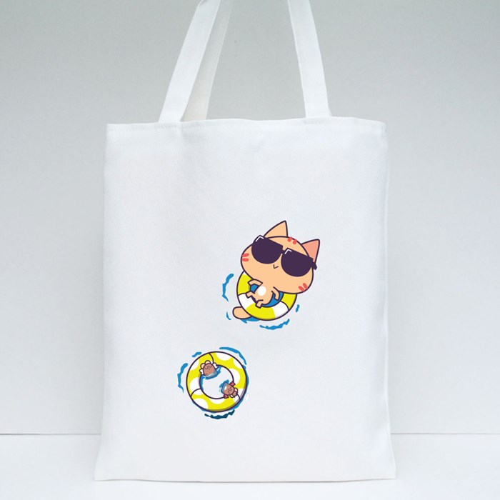 Miao : Float and Chill Tote Bags