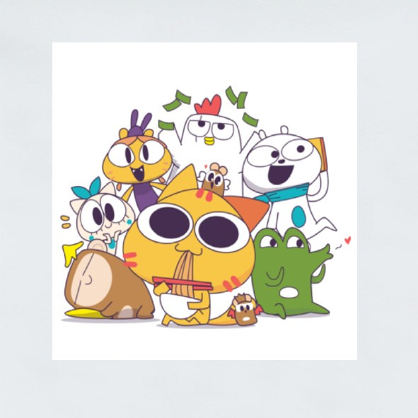 Miao and the Gang: Together V2 Stickers (Square)