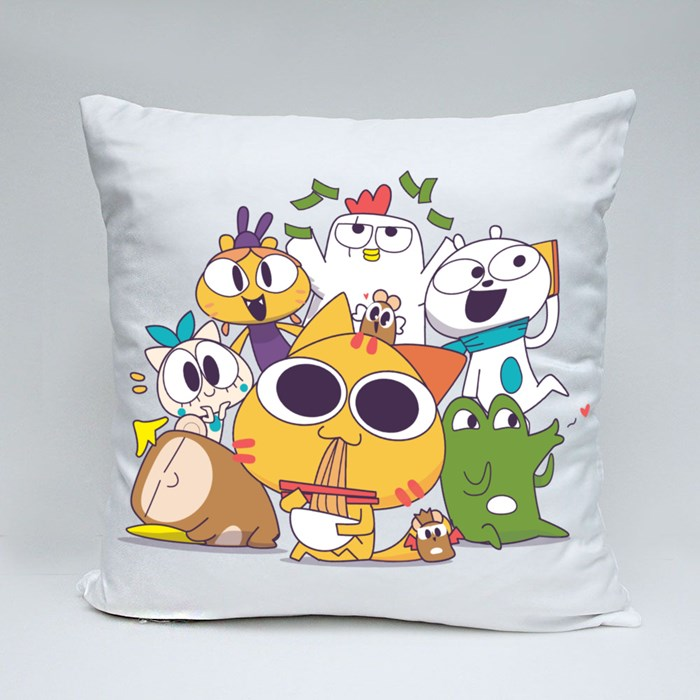 Miao and the Gang: Together V2 Throw Pillows