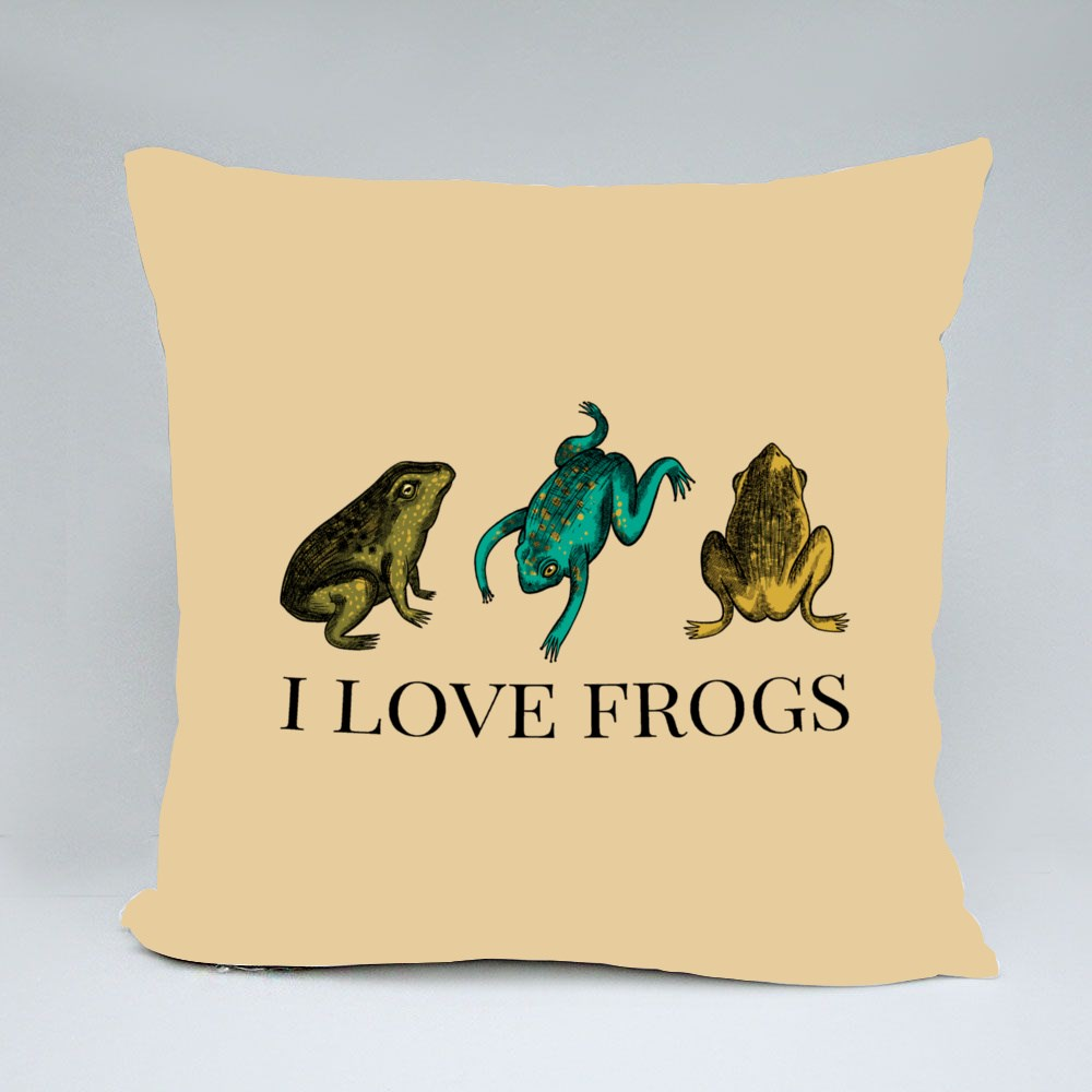 Three Frogs, I Love Frogs Bantal