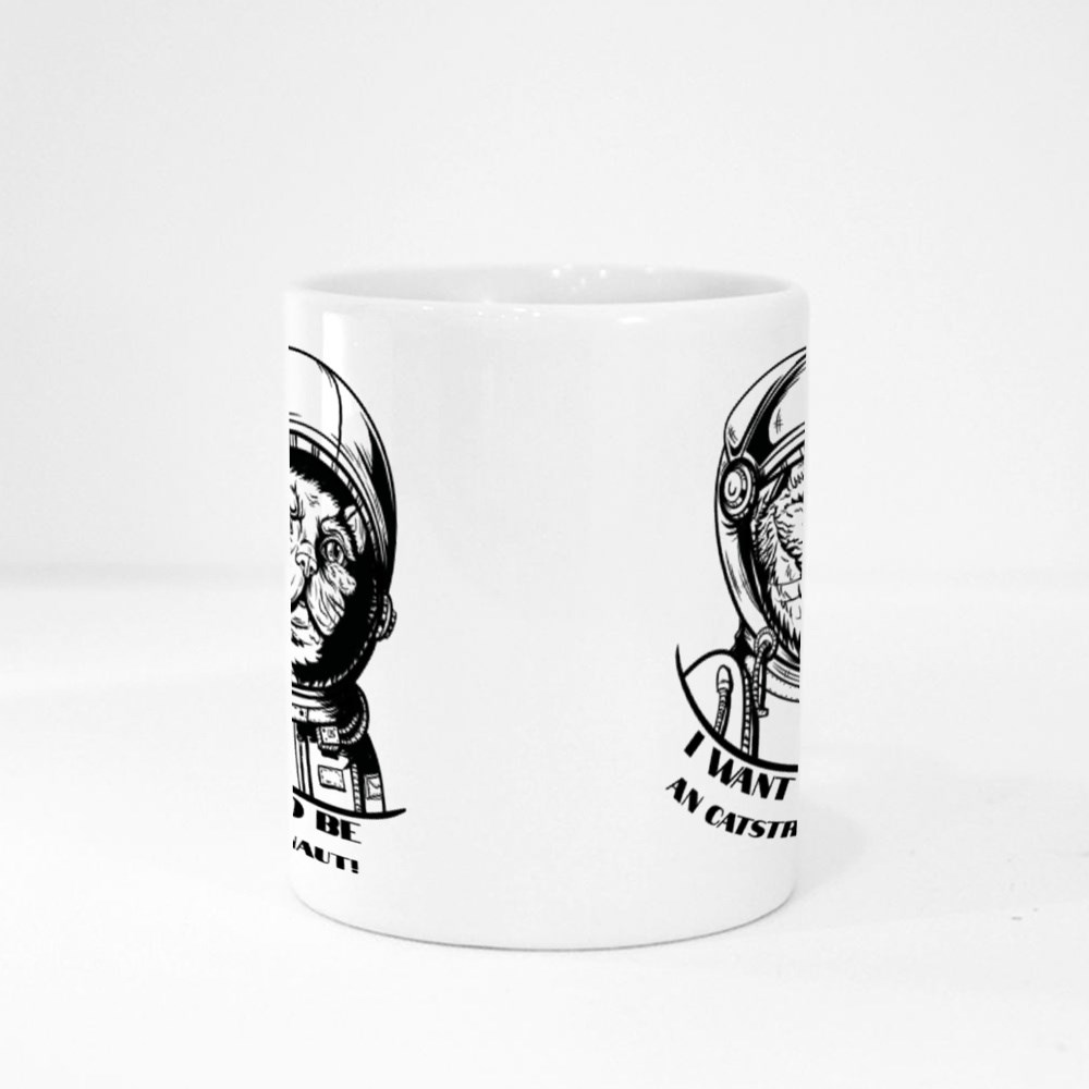 Cat in a Spacesuit Isolated Magic Mugs
