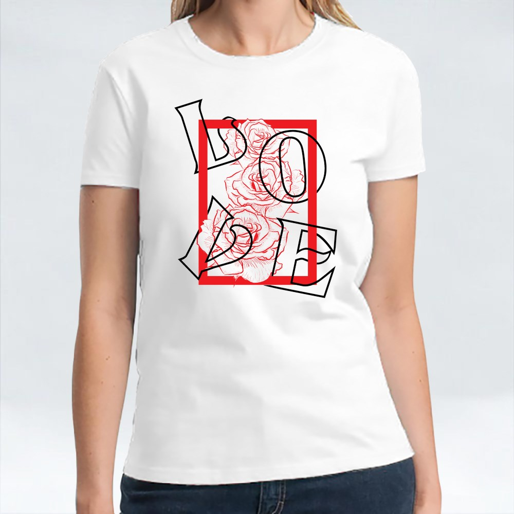 Love and With Flowers Rose T-Shirts
