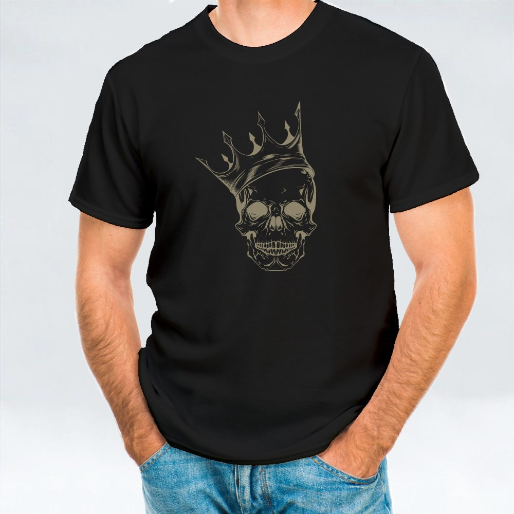Skull Head With His Crown T-Shirts