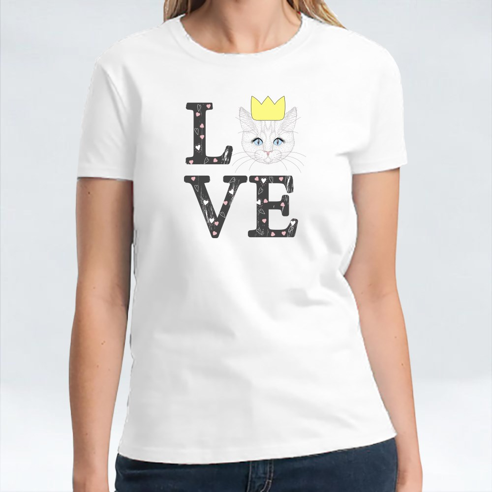 Love for Crown Cat T-Shirts