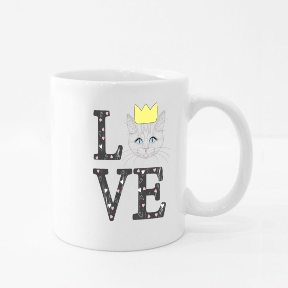 Love for Crown Cat Colour Mugs