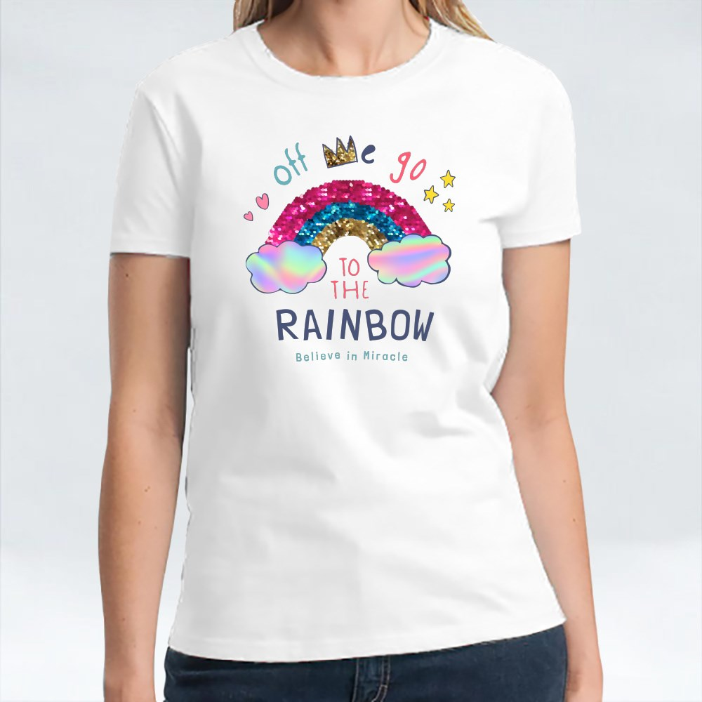 Off We Go to the Rainbow T-Shirts