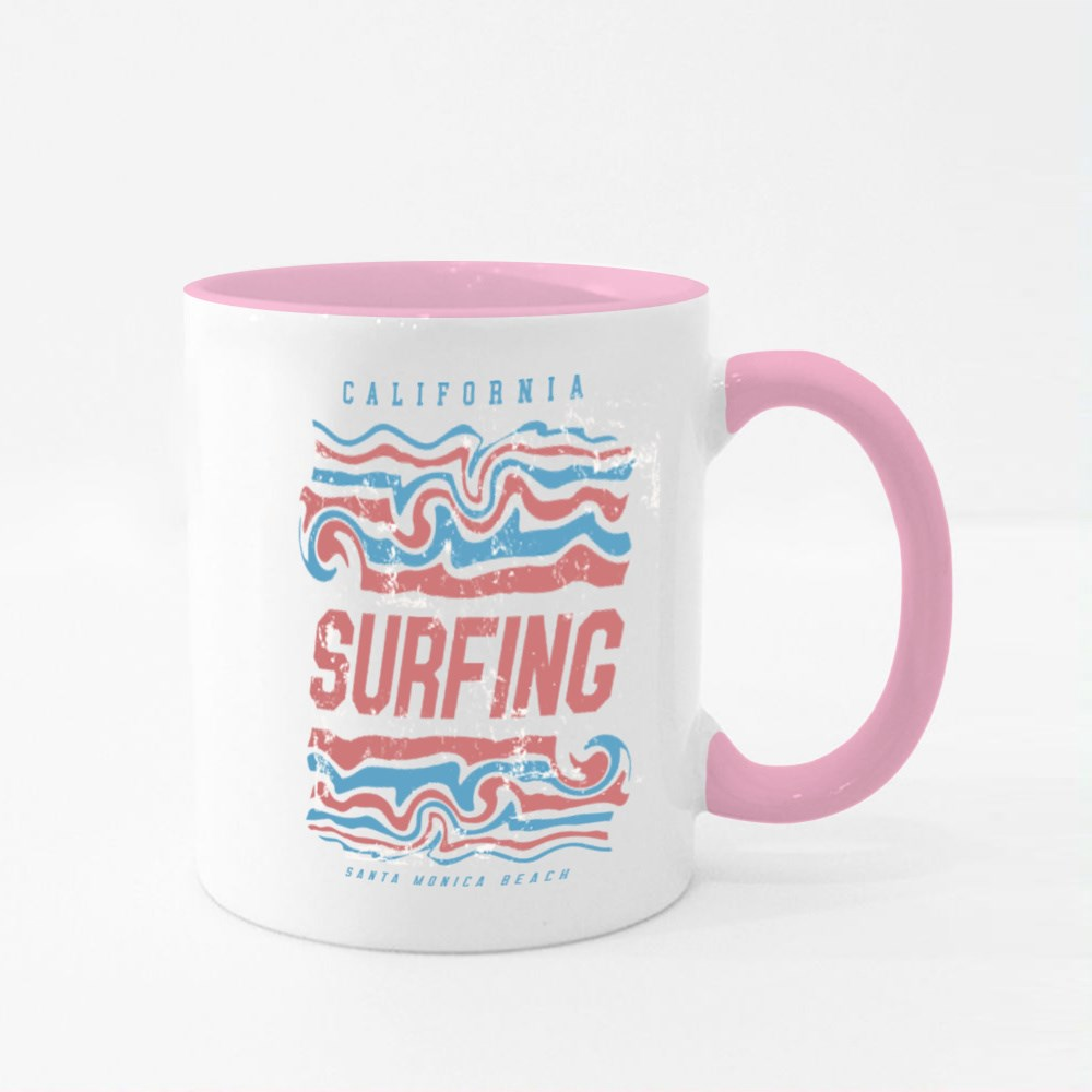 Surf and Surfing in California Colour Mugs