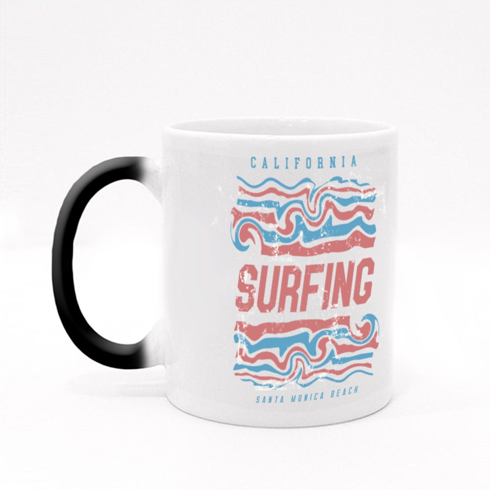Surf and Surfing in California Magic Mugs