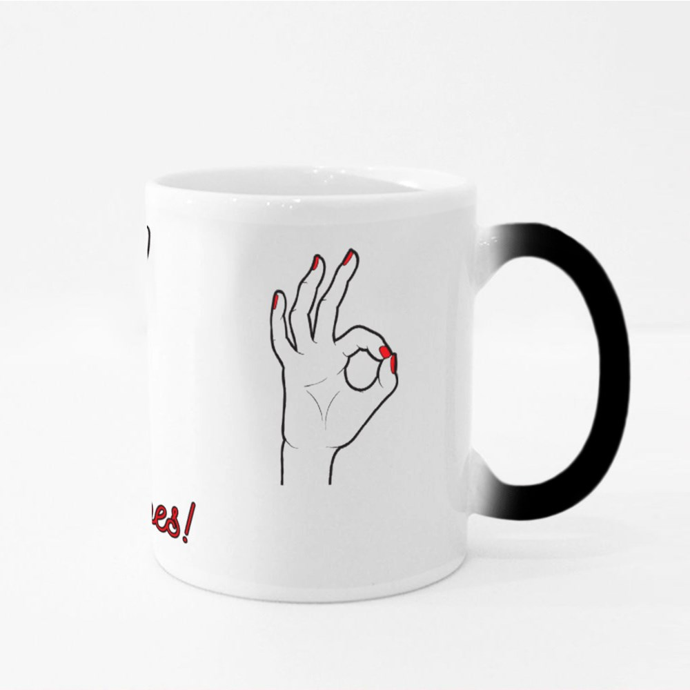 No Bad Vibes With Gestures Magic Mugs