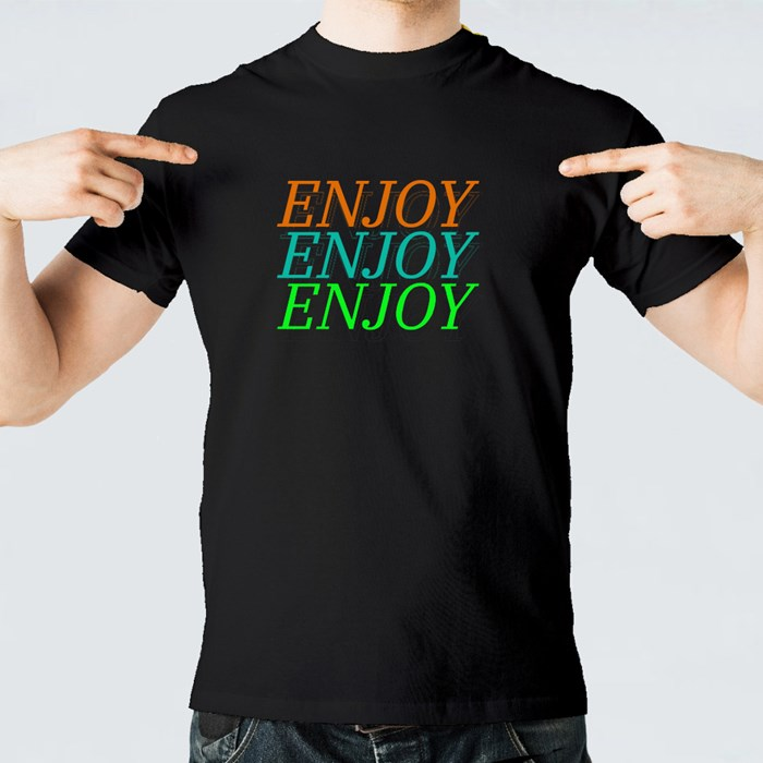 Enjoy Typography  Repeat 短袖T恤