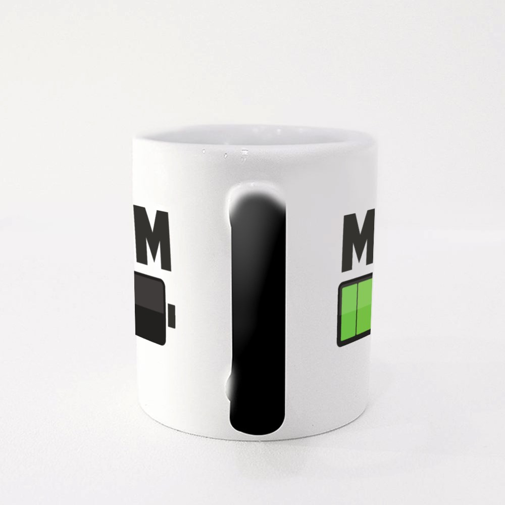 Mom Battery About to Died Magic Mugs