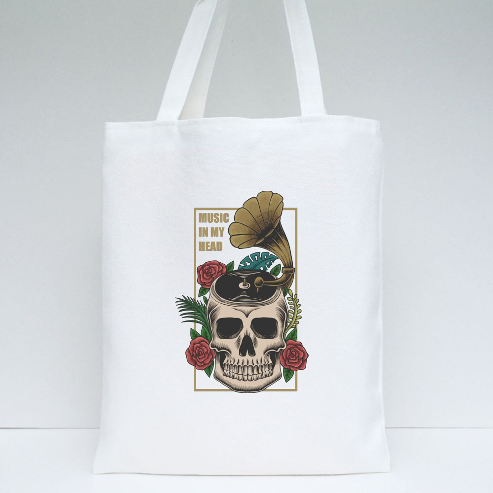 Music in My Head Tote Bags