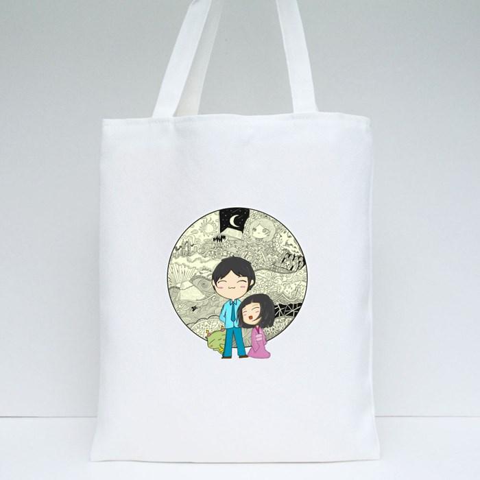 Doodlicious-Yellow Tote Bags