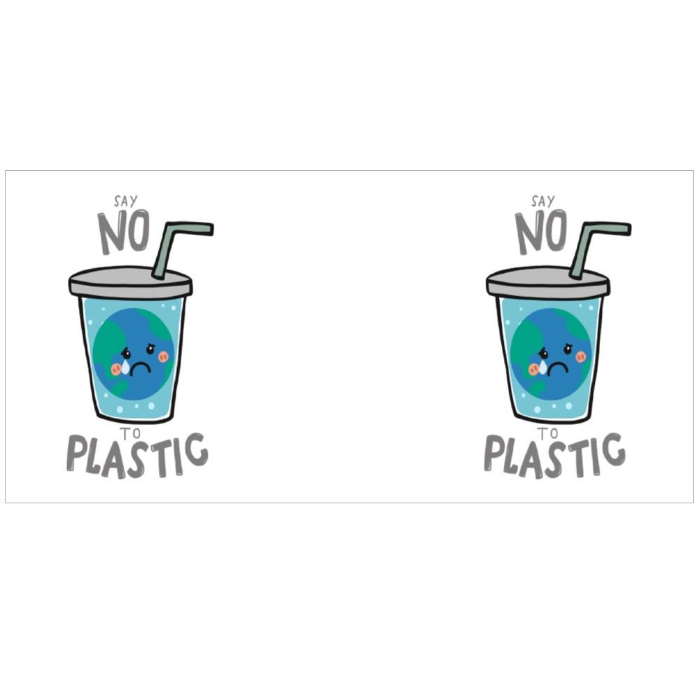 Say No to Plastic Colour Mugs