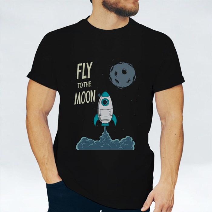 Rocket Fly to the Moon 短袖T恤
