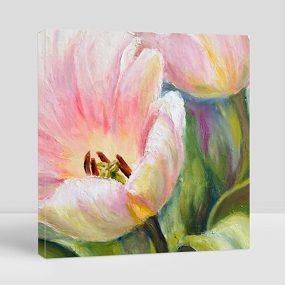 Tulips, Oil Painting on Canvas 帆布畫(正方形)