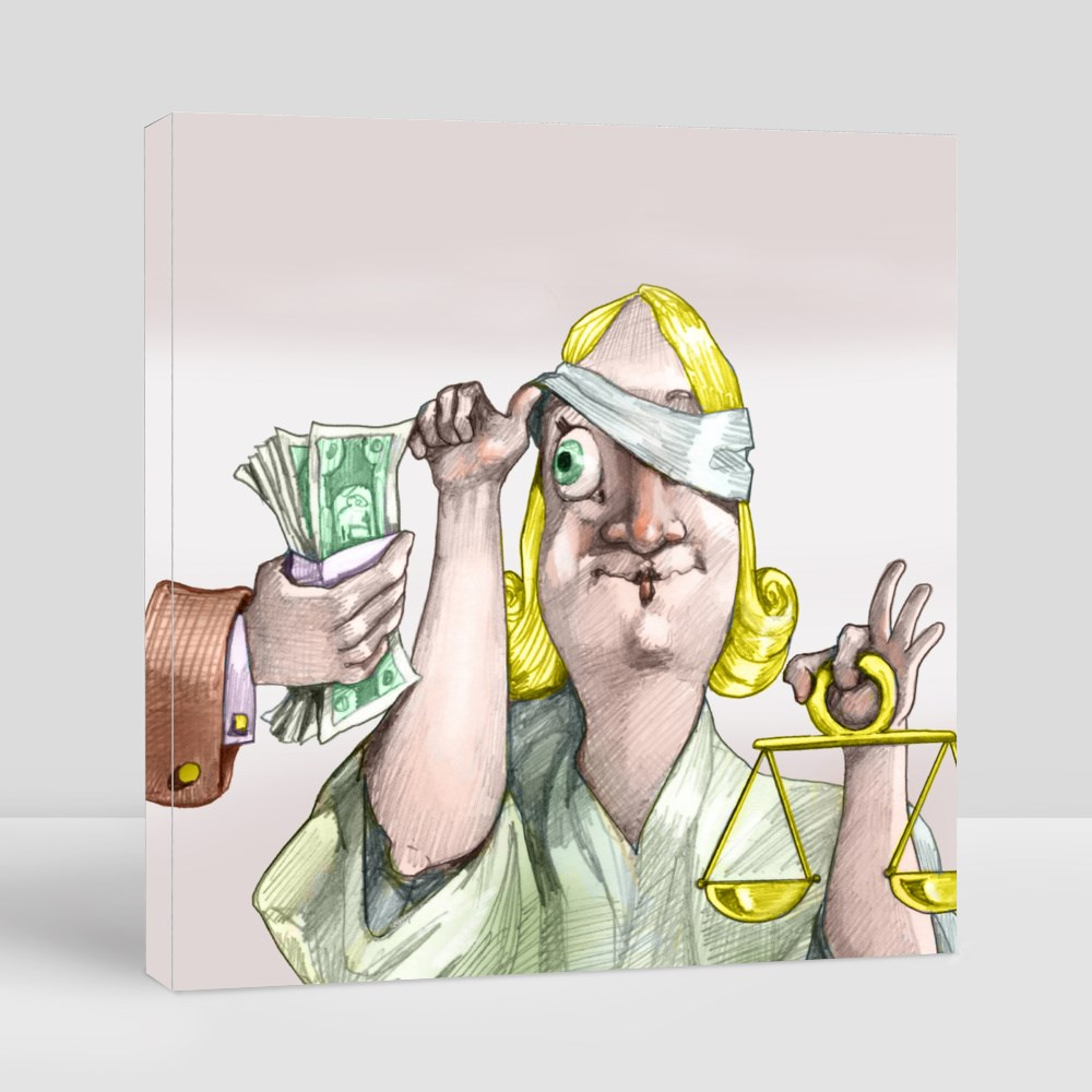 Money for Justice Canvas (Square)