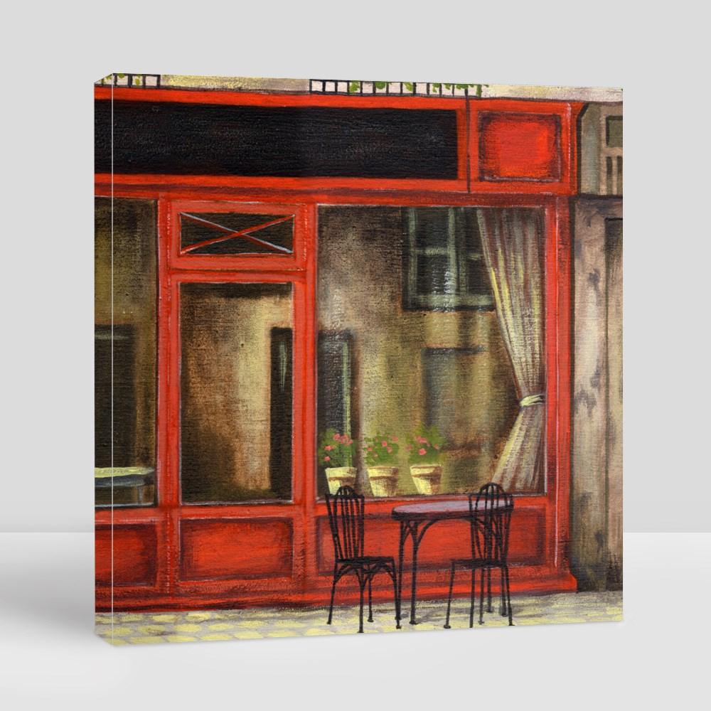 Harmony Parisian Cafe Canvas (Square)