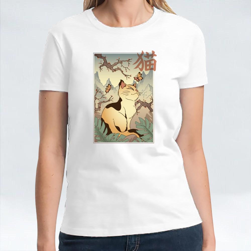Japanese-Style Cat T-Shirts