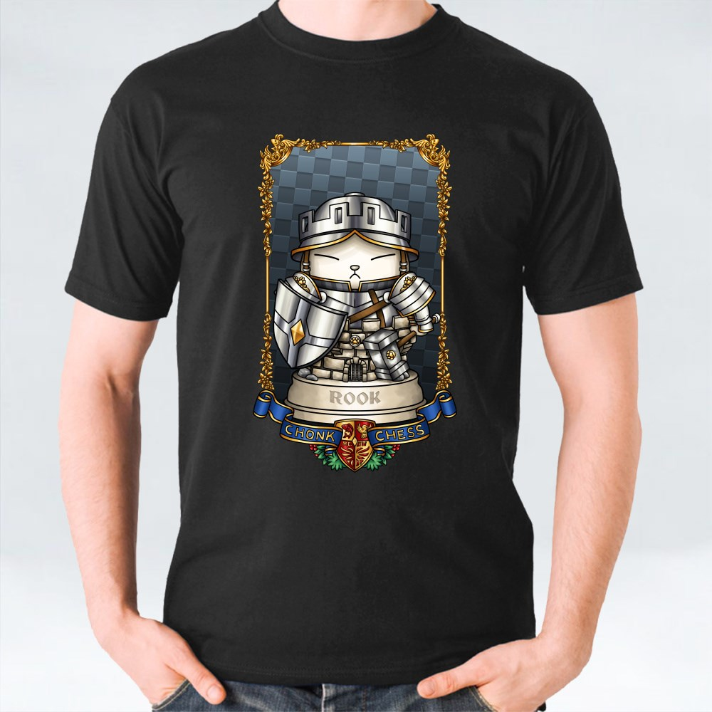 Medieval Chess Cat Rook Tower T-Shirts